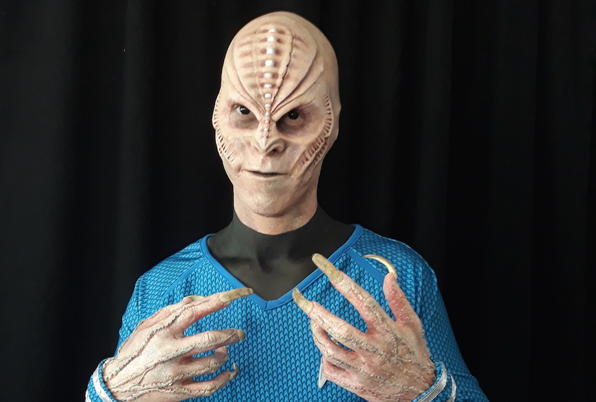 Alien prosthetic makeup